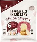 Picture of CERES ORGANIC BROWN RICE SALT & VINEGAR CRACKER SNACK 6 X 20g PACK 120G