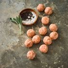 Picture of PETER BOUCHIER FREE RANGE PORK AND FENNEL THANKFUL MEATBALLSA PER TRAY 480g Approx