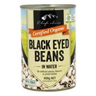 Picture of CHEF'S CHOICE ORGANIC BLACK EYED BEANS 400g, KOSHER, VEGAN